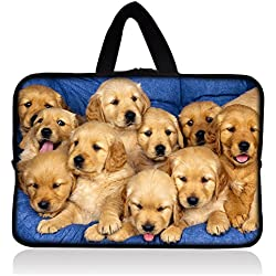 AUPET Cute Dogs Universal 7 ~ 8 inch Tablet Portable Neoprene Zipper Carrying Sleeve Case Bag