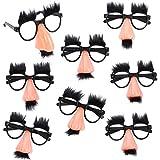 Tigerdoe Groucho Glasses - Disguise Glasses - Funny Nose Glasses - 8 Pairs - Groucho Marx Glasses