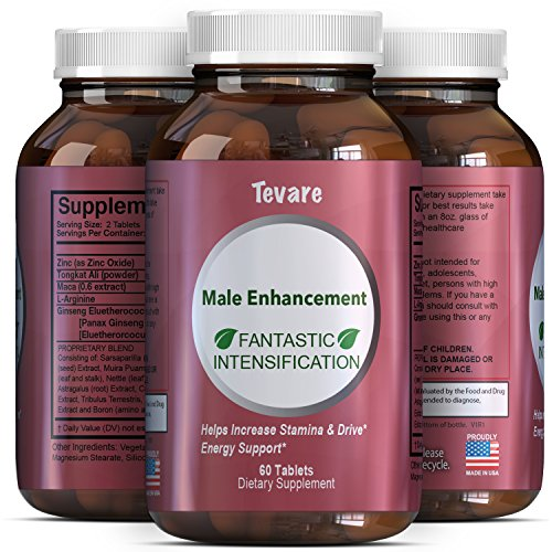 Tevare Libido Enhancer Supplement for Men & Women – Boost Drive and Energy Fast – Natural Horny Goat Weed Extract Pills with Maca Root Powder Pure Ginseng Tongkat Ali and Saw Palmetto