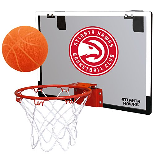 NBA Atlanta Hawks Game On Indoor Basketball Hoop & Ball Set, Regular, Red