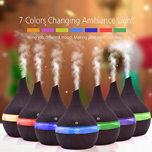 s,Air Aroma Essential Oil Diffuser LED Ultrasonic Aroma Aromatherapy Humidifier ()