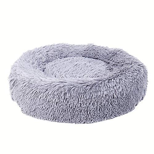 Bed Dog Donut Luxury (Running Pet Cat and Dog Bed (Multiple Sizes) –Round Donut Cat and Dog Cushion Bed, Orthopedic Relief, Self-Warming and Cozy for Improved Sleep Machine Washable)