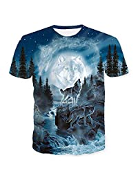 Snow Wolf Sleeve - Couple Outfit Printing T-Shirt,Short Sleeve T-Shirt & 3D Digital Tank Tops - Large Size Vest,Women's,6XL