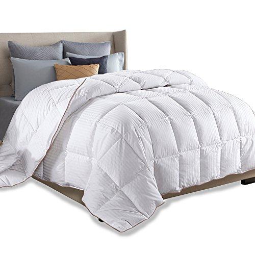 - SNOWMAN King Size Duvet Insert White Goose Down Feather Comforter 100% Cotton Cover Fluffy Bed Quilt Blanket All Season (King, White)