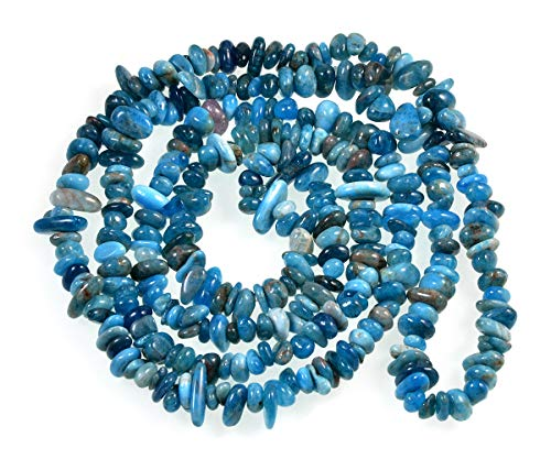 "AD Beads Natural Chips Nuggets 5-10mm Freeform Tumbled Irregular Gemstone Beads 34"" or 15 Mixed Color Loose Chips Box Set (Apatite)"