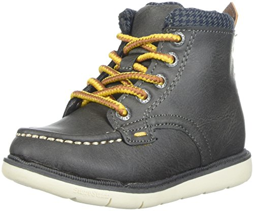 Step & Stride Boys' Hunter High Top Lumberjack Fashion Boot, Charcoal, 6 M US (24 Baby Footwear Boots)