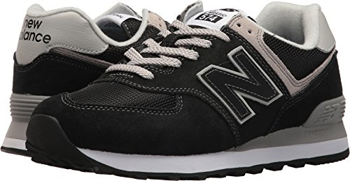 Synthetic Black Footwear Suede (New Balance Women's 574v2 Evergreen Lifestyle Sneaker, Black, 11.5 B US)