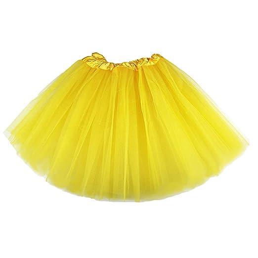 planuuik Mujer Falda Tutu En Capas Organza Encaje Mini Faldas ...