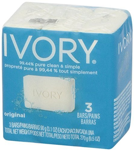 Ivory Bar Bath Soap 3.1oz - 3 count (Pack of 6) ()