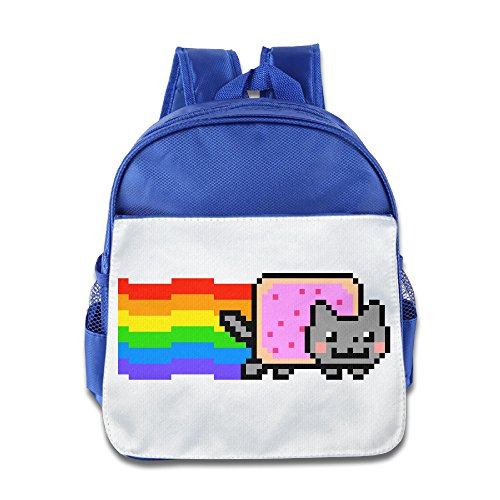 Jimmy Fallon Kids Costumes (XJBD Custom Personalized Nyan Cat Rainbow Png Kids Children School Backpack For 1-6 Years Old RoyalBlue)