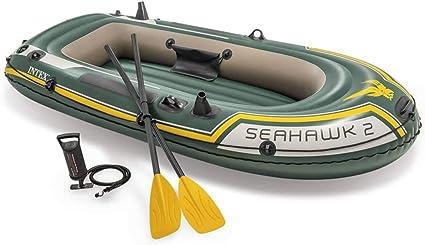 Intex Set Bateau Gonflable Avec Rames Pompe Seahawk 2 68347np Amazon Fr Sports Et Loisirs
