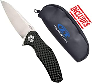 product image for Zero Tolerance 0770CF Carbon Fiber Assisted Opening Folding Knife w/ZT Storage Pouch