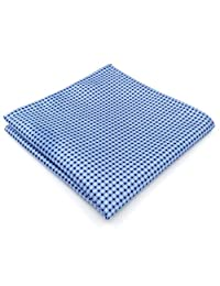 Shlax&Wing Blue Dots Dotty Men's Hanky Silk Pocket Square For Business