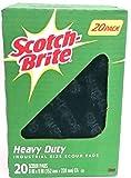 Scotch Brite 3M Heavy Duty Scouring Pads 6''X 9'' Heavy Duty Scouring Power Of Scotch-Brite (20 Pack)