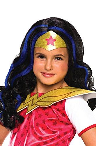 Amazonian Warrior Princess Costume (DC Superhero Girls: Wonder Woman Child Wig, One Size)