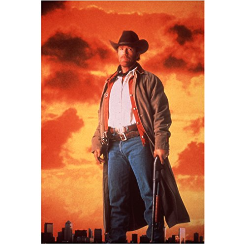 Walker, Texas Ranger 8 Inch x 10 Inch Photo Chuck Norris with a beautiful sunset