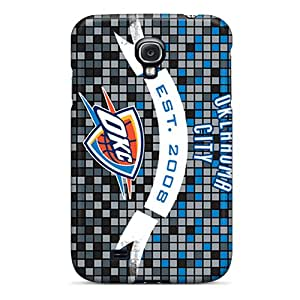 Cute Appearance Cover/tpu MHu1553uZYH Oklahoma City Thunder Case For Galaxy S4