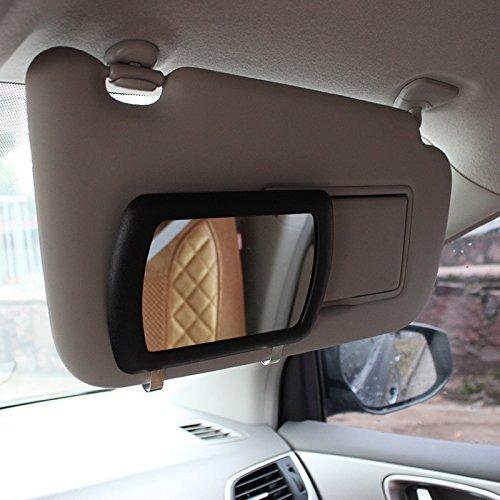 Silence-shopping Miroir de maquillage de voiture miroir cosmétique de voiture miroir de vanité de voiture miroir de soleil ombrage noir fournitures d'automobile 11cm / 4.3''x7cm / 2.7 '' 1 pc noir s457DE