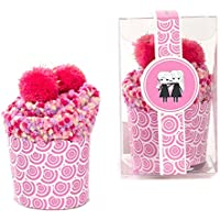 Gal Pal: Slipper Socks in Cupcake Packaging- Sleepover and Birthday Party Gift
