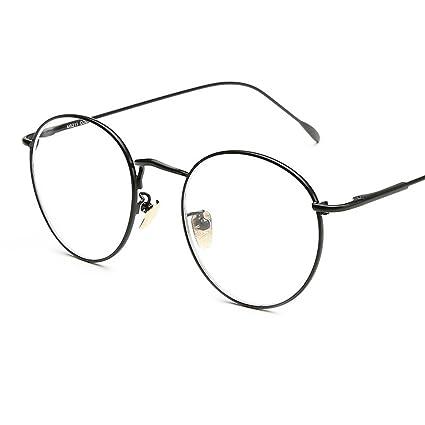 6ed2983ab0 Alxcio Neutral Retrò Montatura Occhiali da Vista,Montatura super  leggera,Moda personalità Rotondi Metallo Montatura Decorazione Occhiali  (Stile 1)