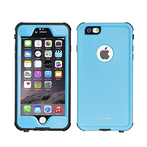 """iPhone 6S Plus Waterproof Case, iThrough iPhone 6S Plus Underwater Case, Dust Proof, Snow Proof, Shock Proof, Heavy Duty Protective Carrying Cover for iPhone 6S Plus, iPhone 6+ 5.5""""(Q-Blue)"""
