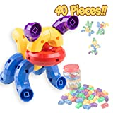 NSC Caterpillar Building Blocks 40 pcs Set - Stem Toys for Boys & Girls - Educational Toy for 3 4 5 6 Year Olds Kids - So Much Fun - Infinite Combinations - Improving Imagination & Visualization
