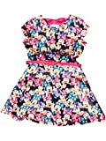 Disney Minnie Mouse Girls' Scuba Skater Dress w/Belt and Bow in The Back Pink Size 8