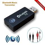 Bluetooth Transmitter,LURICO 3.5mm Portable Wireless Stereo Audio Adapter Bluetooth Transmitter for TV, iPod,MP3/MP4,Headphone,USB Power Supply