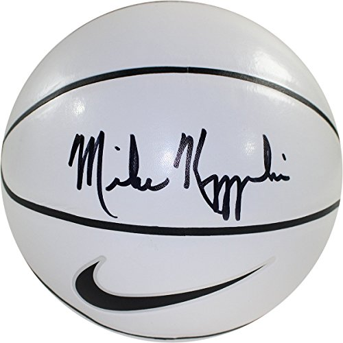 Mike Krzyzewski Signed Nike Elite White Panel Regulation Autograph Basketball (6 White Panels 2 Brown Panels) (Regulation Autograph)