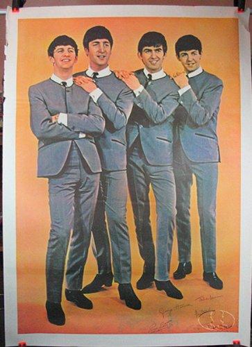Original Beatles 1964 Giant Promo Usa Poster (1964 Poster Print)