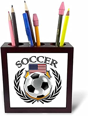 3dRose ph_239682_1 - Soporte para bolígrafo de balón de fútbol ...