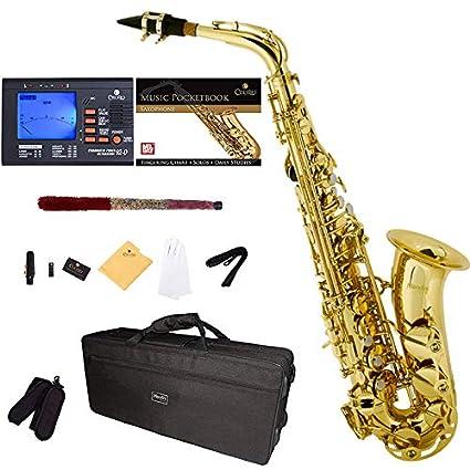 Amazon.com: Saxofón alto Mendini por Cecilio Eb con ...