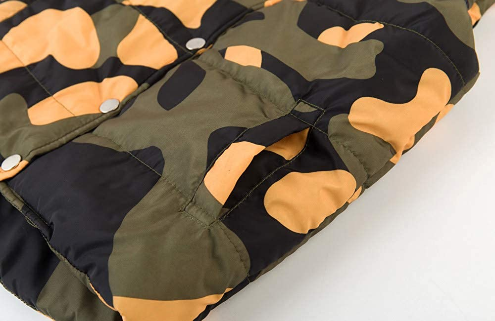 Kobay Kid Infant Jungen M/ädchen Camouflage Jacken Weste Warmer Mantel
