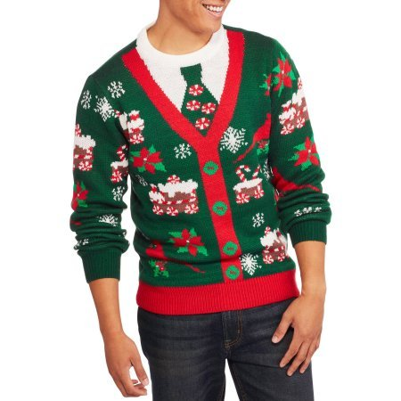 Christmas Button Cardigan Men's