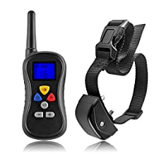 Flexzion Dog Training Collar Remote Control 330 Yard 16 Level Vibra Electronic Waterproof Device with Safe Beep Vibration Shock for Large Medium Pet Battery Operated