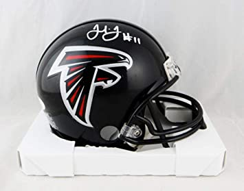 29ab6cbfa79 Image Unavailable. Image not available for. Color  Julio Jones Autographed  Atlanta Falcons Mini Helmet- JSA ...