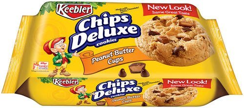 Keebler Chips Deluxe Cookies, Peanut Butter Cups, 11.6 Ounce