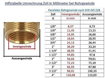 tecuro Sanit/är Verbindungsschlauch 3//8 /ÜWM x 3//8 AG x 200 mm DVGW KTW-A