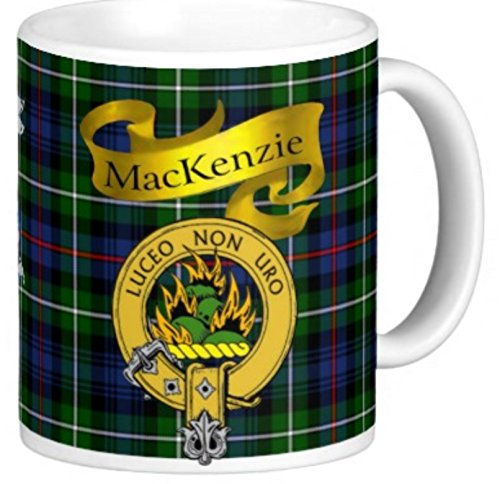 Scottish Clan MacKenzie n 11 Oz. Ceramic Coffee Mug (Tartan Clan Mackenzie)