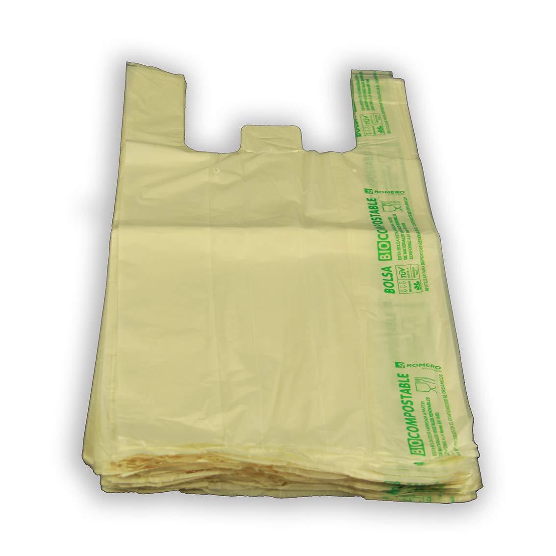 Bolsa BIO Compostable asa camiseta 480x600. Galga 100. Paquete de ...