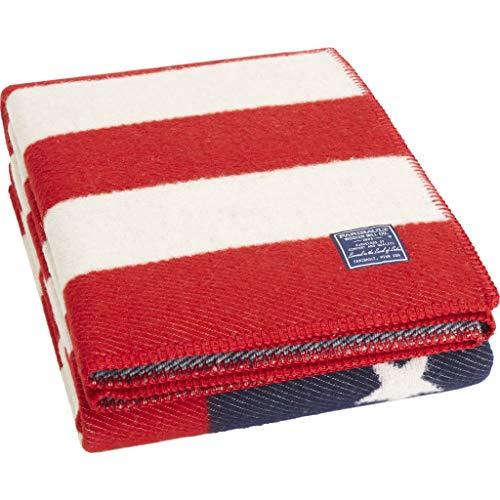 - Faribault American Flag Throw | Wool - Red
