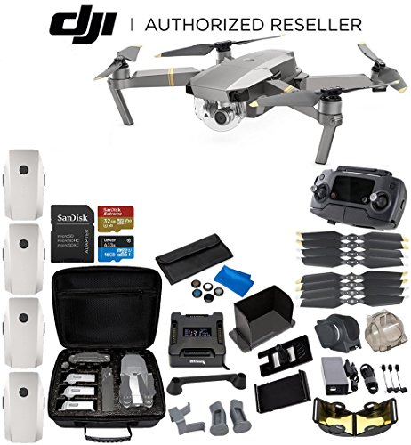 DJI Mavic Pro Platinum Collapsible Quadcopter 4-Battery Ultimate Bundle