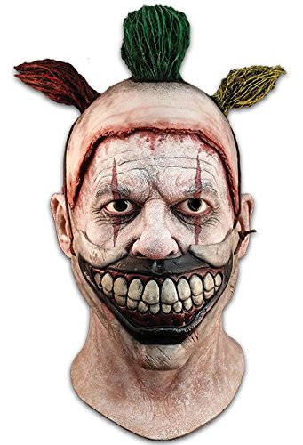 Trick Or Treat Mask (Trick or Treat Studios Mens Twisty The Clown Deluxe Mask, Multi, One-Size)