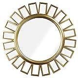 Crystal Art Large Sunburst Starburst Vanity Wall Mirror-Gold, Multicolor