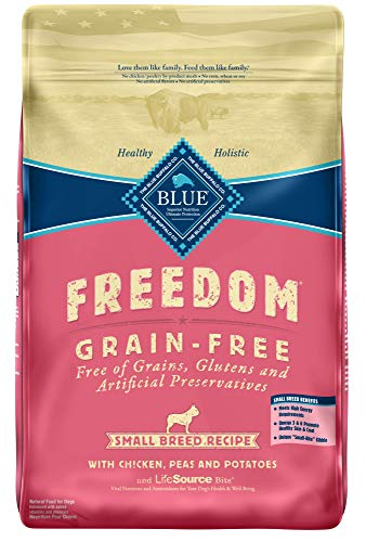 Blue Buffalo Freedom Grain Free Recipe for Dog, Small Breed Chicken Recipe, 11 lb (Food Breed Small Blue Dog)