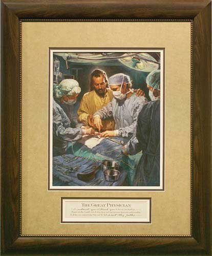 Carpentree 92155 - 25''x30'' The Great Physician Framed Art - The Great Physician Framed Art by Carpentree