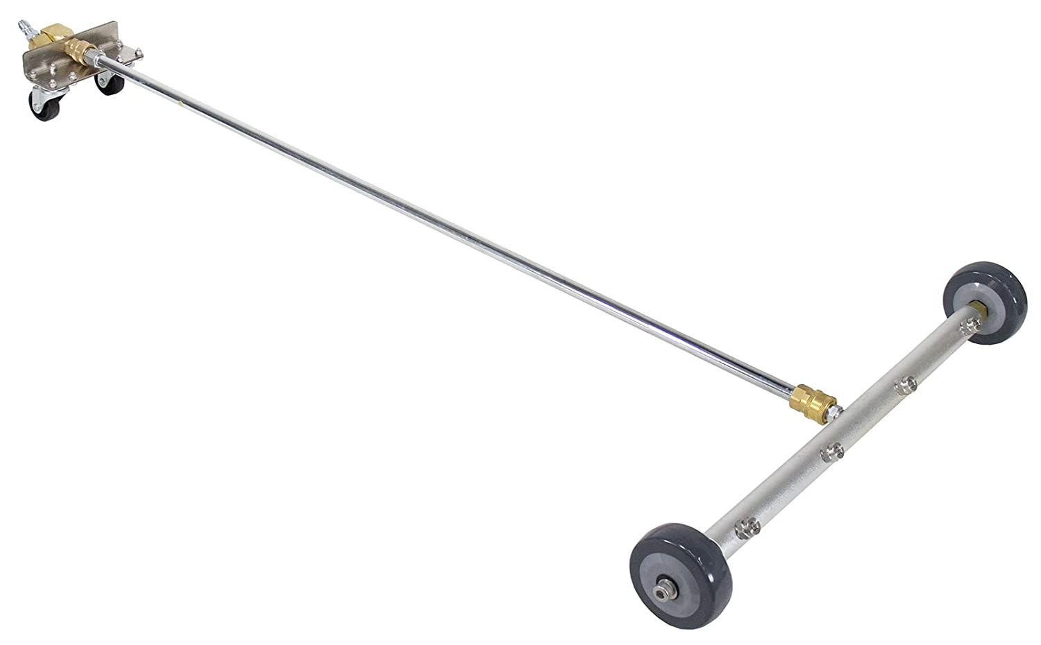 """Erie Tools 19"""" Undercarriage Surface Cleaner 4 Spray Tip Nozzles 4000 PSI with Swivel Fittings and Wheels"""