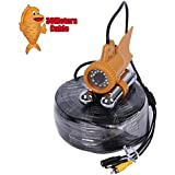 Vanxse Underwater Fish Camera HD 1000TVL 24Pcs White LED 100 Degree view Fish Finder video Camera (30Meters Cable)