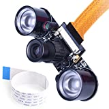 zero point module - kuman for Raspberry PI Camera Module 5MP 1080p OV5647 Sensor HD Video Webcam Supports Night Vision for Raspberry Pi Model B/B+ A+ RPi 3/2/1/zero/zero W with FFC/FPC Cable (Raspberry pi Camera)