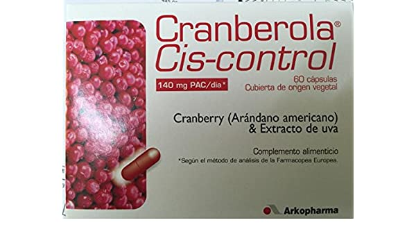 Amazon.com: ARKOPHARMA CRANBEROLA CYS CONTOL 60 CAPS CRANBERRY 140mg PAC /day Xmas Gift Skin Beauty Gift: Beauty